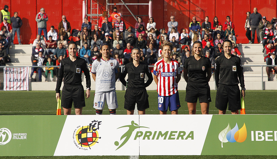 Temp. 19-20   Atlético de Madrid Femenino-Levante   Capitanas