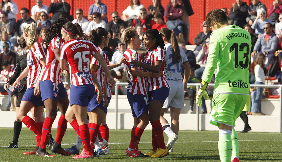 Temp. 19-20   Atlético de Madrid Femenino-Levante   Ludmila celebración