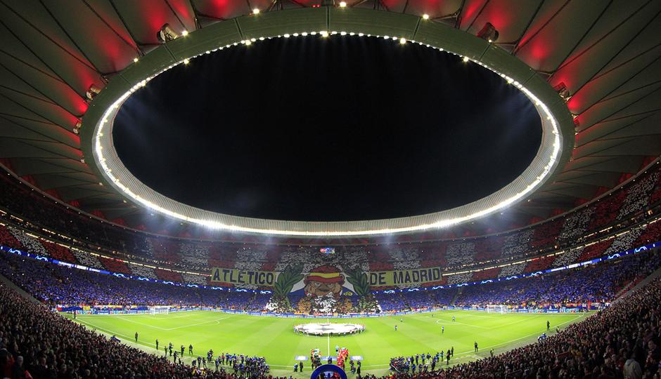Temporada 19/20   Atlético de Madrid - Liverpool   Tifo
