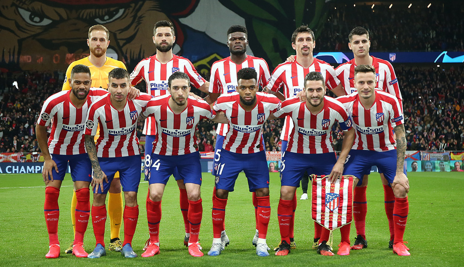 Temporada 19/20   Atlético de Madrid - Liverpool   Once