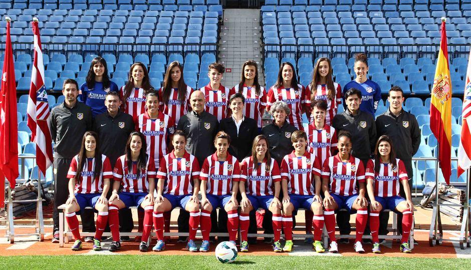 Temporada 2013-2014. Foto oficial del primer equipo del Atlético de Madrid Féminas