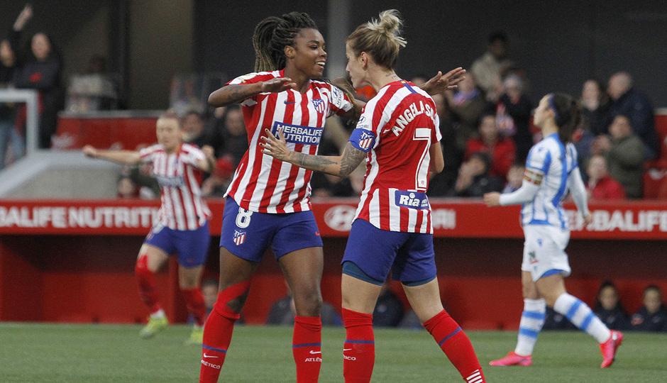 Temporada 19/20 | Atlético de Madrid Femenino - Real Sociedad | Celebración Ludmila