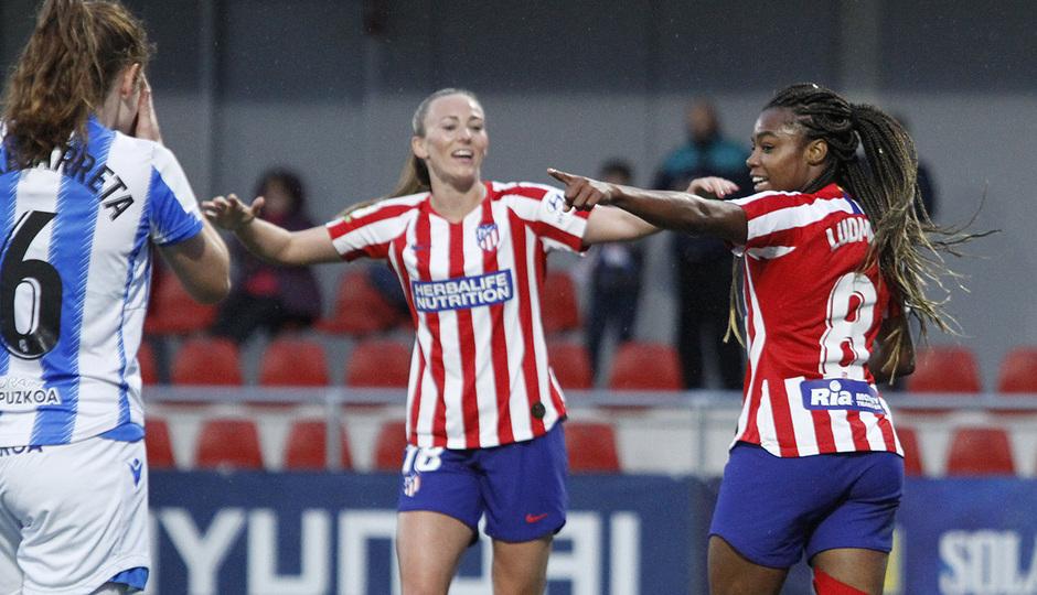 Temporada 19/20   Atlético de Madrid Femenino - Real Sociedad   Ludmila celebración