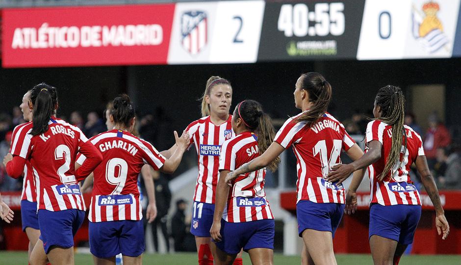 Temporada 19/20 | Atlético de Madrid Femenino - Real Sociedad | Ludmila celebración
