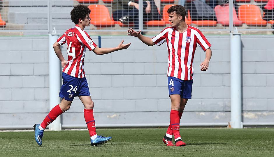 Temp 19/20 | Atlético de Madrid B - Racing Ferrol | Camello y Álvaro celebración