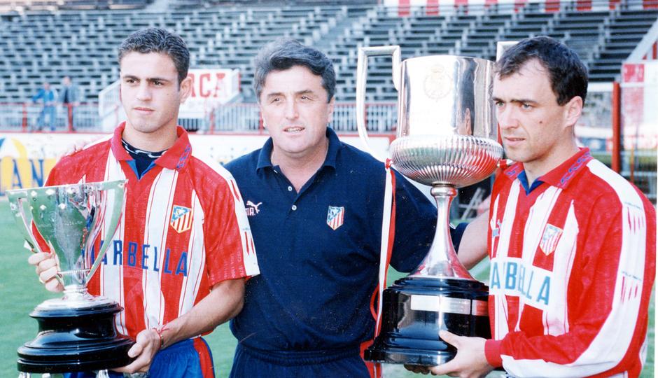 Radomir Antic | Celebración Copa y Liga 1995-96