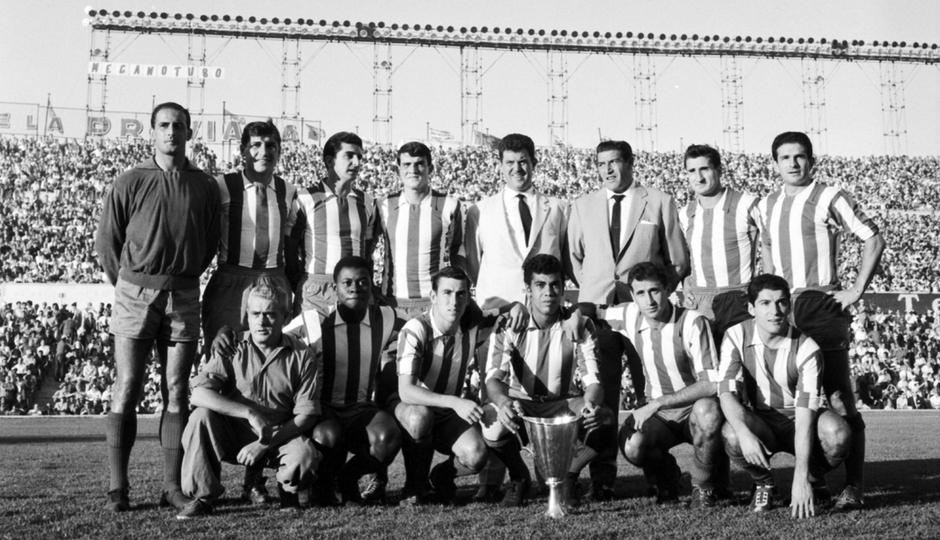 Jones | Foto histórica Atlético de Madrid - Valencia | Temporada 1962-63