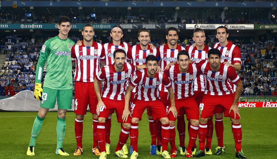 Los once jugadores que salieron de inicio en el partido ante el Espanyol