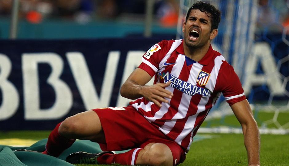 Diego Costa se lamenta tras una ocasión de gol