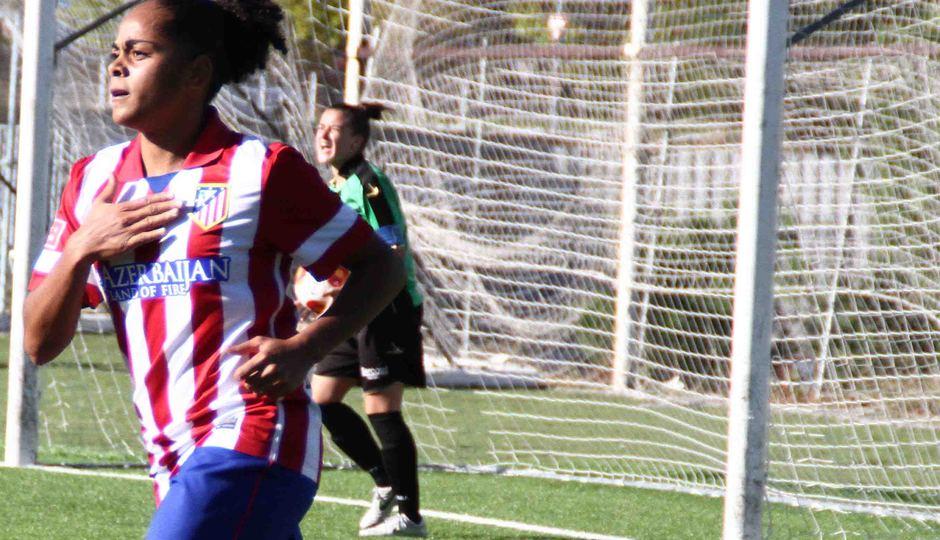 Temporada 2013-2014. Jade celebra el tercer gol ante el Oviedo