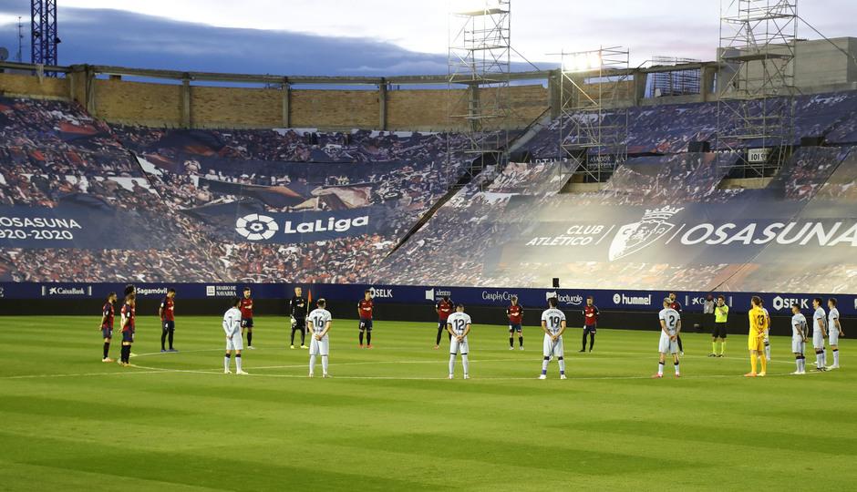 Temporada 2019/20 | Osasuna-Atlético | Minuto de silencio