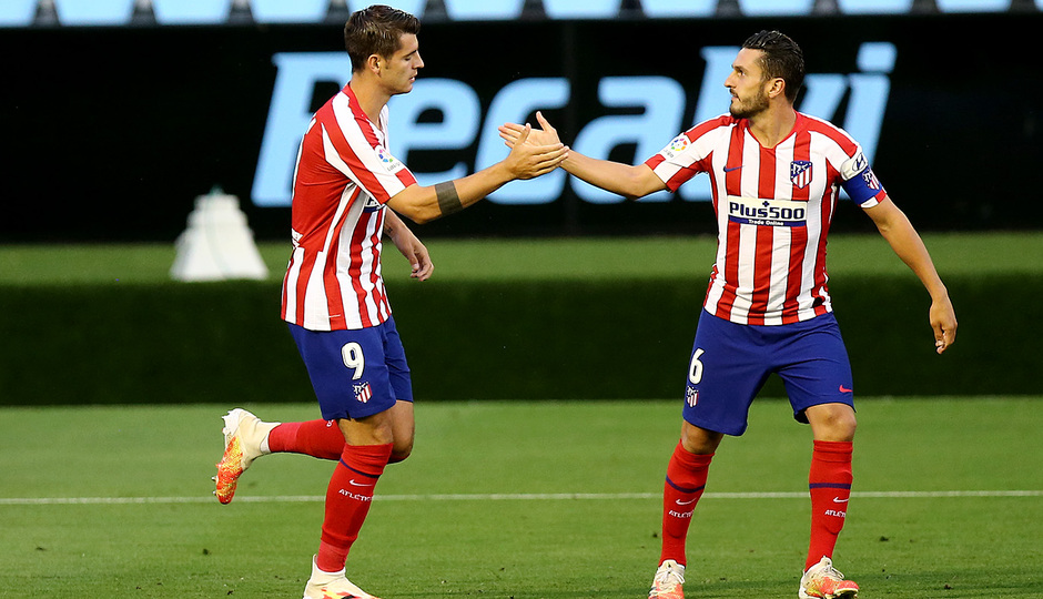 Temp. 19-20 | Celta - Atlético de Madrid | Celebración Morata y Koke