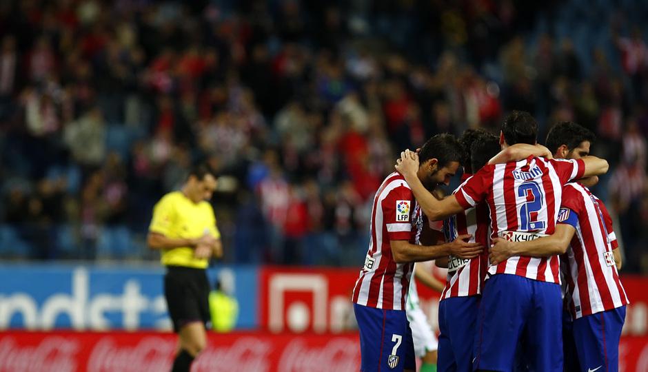 Temporada 13/14. Partido Atlético de Madrid-Betis. Celebración de gol