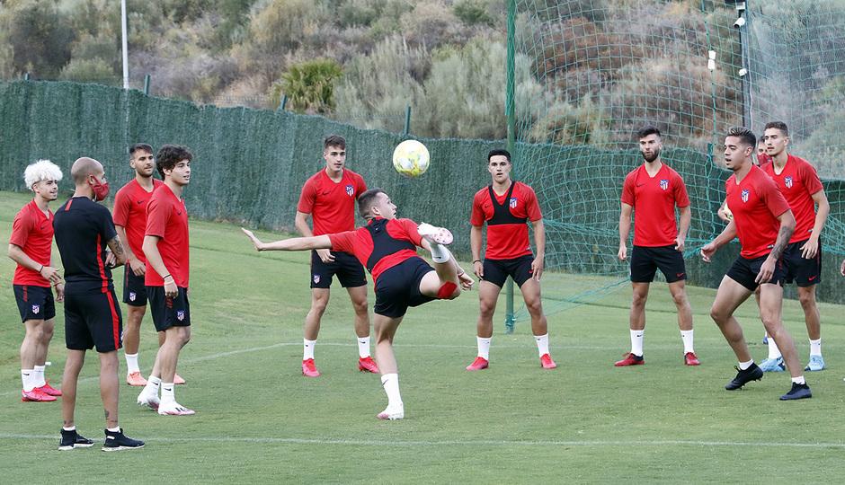 Temporada 19/20 | Entrenamiento en Marbella, fase de ascenso a Segunda División, Atlético B | Borja Garcés