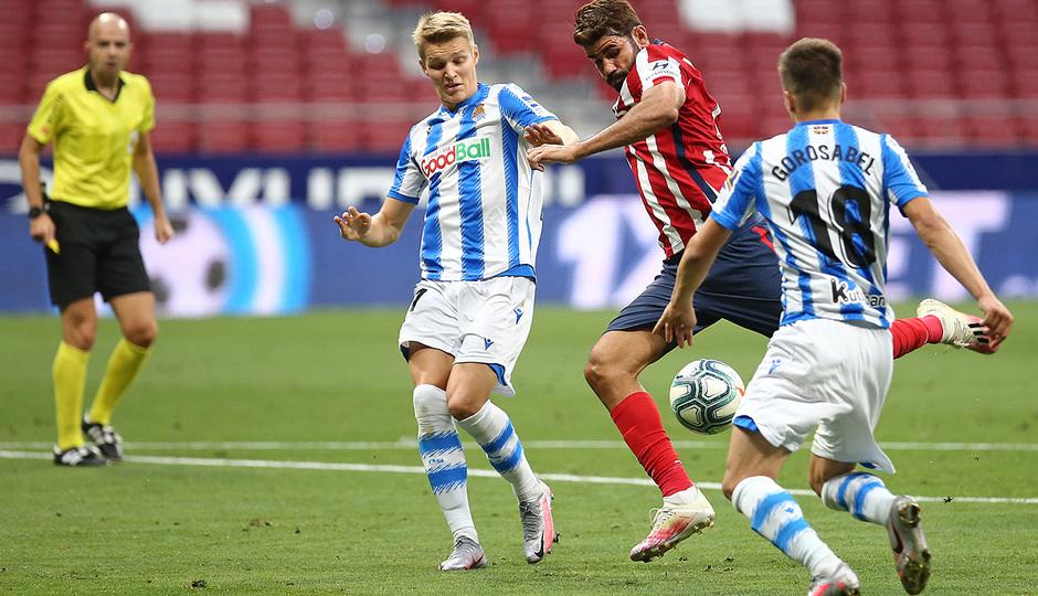 Temp. 19/20. Atlético de Madrid-Real Sociedad. Diego Costa.