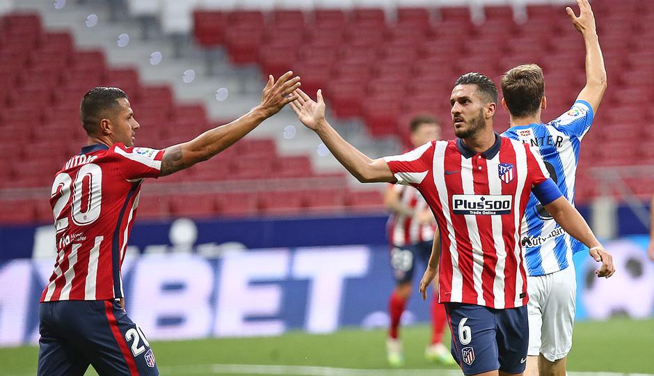 Temp. 19/20. Atlético de Madrid-Real Sociedad. Koke celebración.