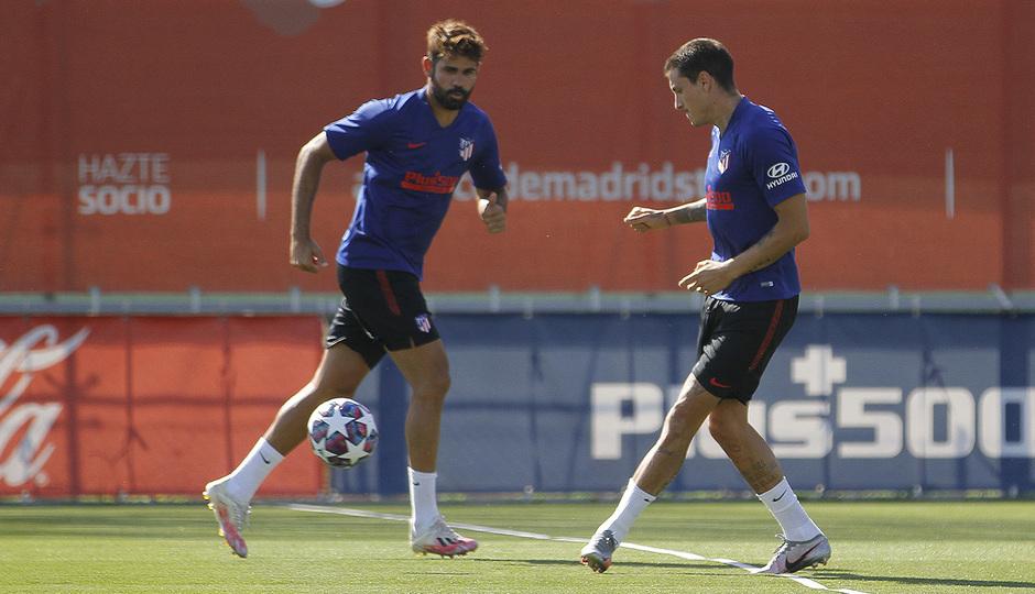 Temp. 19/20 | Entrenamiento 31-07-20 | Diego Costa y Giménez