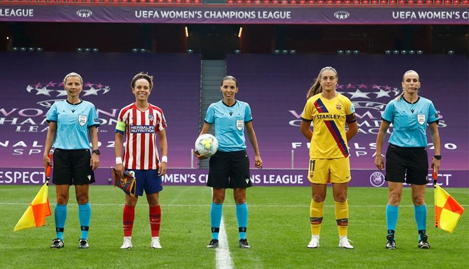 Temp. 19-20 | UWCL | Atleti-Barsa | Capitanas y árbitros