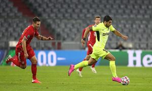 Temp. 20-21   Bayern Munich - Atlético de Madrid   Suárez