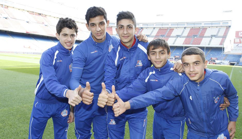 Los niños de Azerbaiján hicieron piña antes del partido