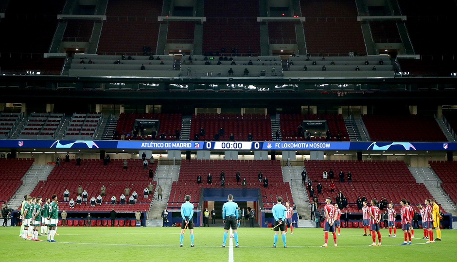 Temp. 20-21 | Atlético de Madrid - Lokomotiv | Minuto de silencio Maradona