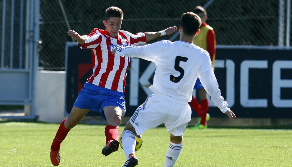 temporada 13/14. Partido de Juveniles  Atlético de Madrid liga nacional Real Madrid