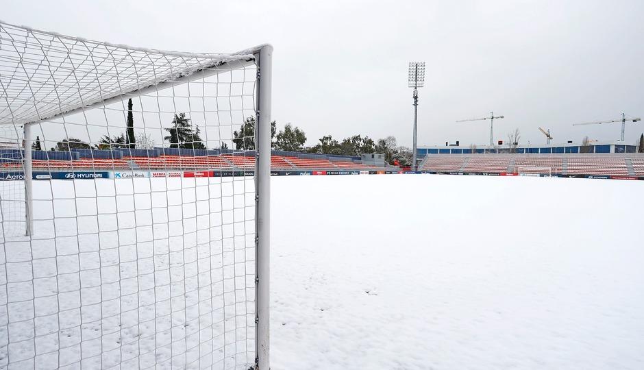 Ciudad Deportiva Wanda de Majadahonda nevada