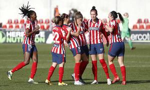 Temp 2020/21   Atleti Femenino-Sevilla   Deyna celebración