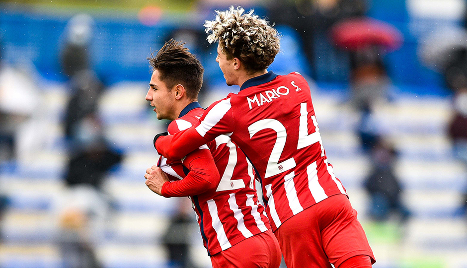 Temp. 20-21 | Getafe B - Atlético de Madrid B | Celebración Medrano y Soriano