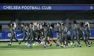 Temp. 20-21 | UWCL | Entrenamiento Chelsea-Atleti Femenino |