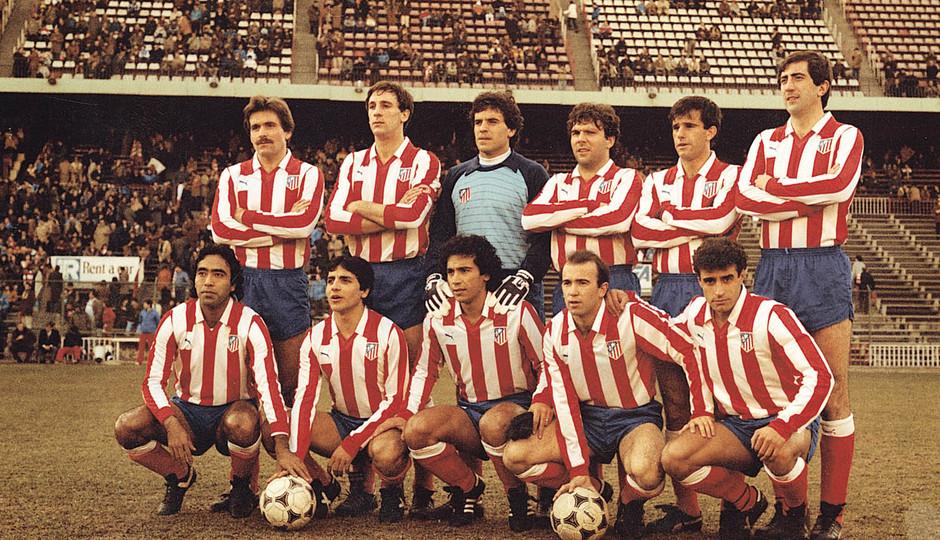 Temporada 13/14. Leyendas Rojiblancas. Kike Ramos once inicial en el Vicente Calderón