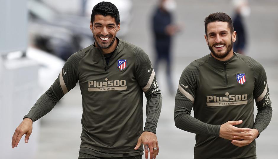 Temp. 20-21 | Entrenamiento Atlético de Madrid | Luis Suárez y Koke