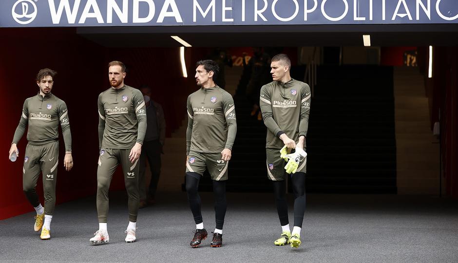 Temp. 20-21 | Entrenamiento Atlético de Madrid | Vrsaljko, Oblak, Savic, Ivo