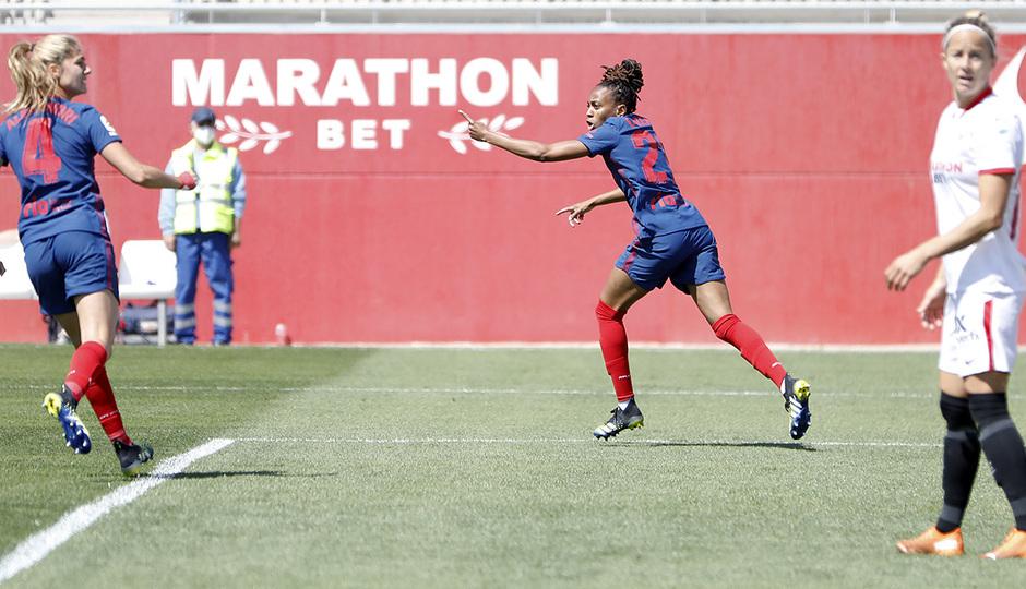 Temp. 20-21 | Sevilla-Atleti Femenino | Emelyne celebración