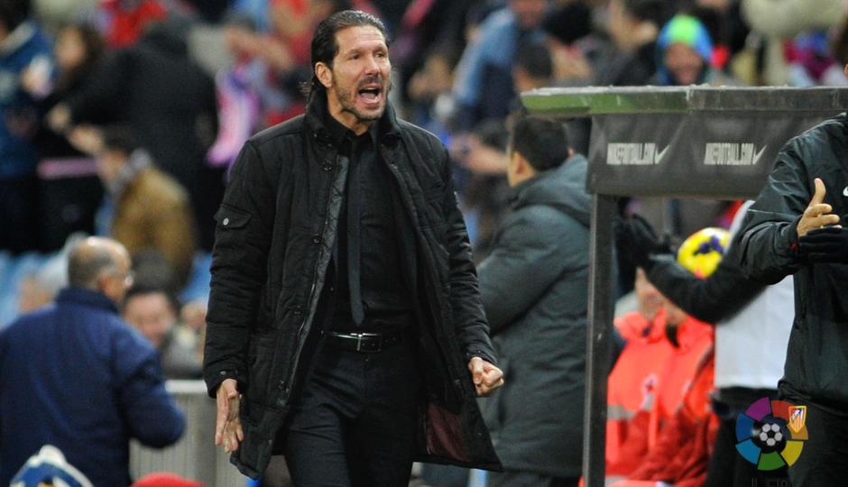 Temporada 2013/2014. Atlético de Madrid - Getafe. Simeone celebrando un gol