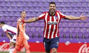 Temp. 20-21   Valladolid-Atleti   Celebración Luis Suárez