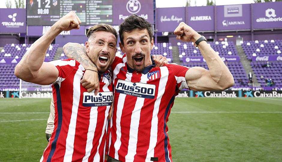 Temp. 20-21 | Valladolid-Atleti | Celebración Savic y Herrera
