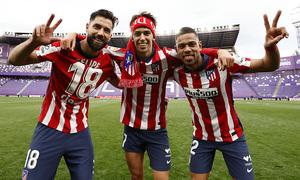 Temp. 20-21   Valladolid-Atleti   Celebración Felipe, Joao y Lodi