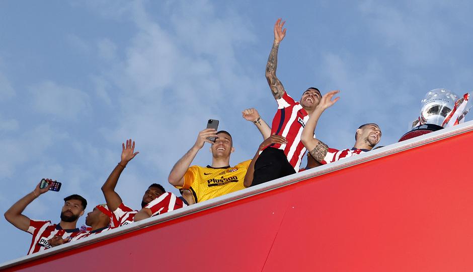 Temp. 20-21   Celebración título LaLiga Wanda Metropolitano   Atlético de Madrid   Campeones
