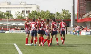 Temp. 20-21   Atlético de Madrid Femenino - FC Barcelona   Amanda celebración