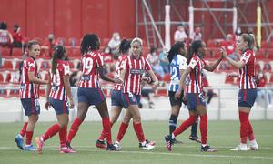 Temp. 20-21   Atlético de Madrid Femenino - Espanyol   Celebración gol Emelyne