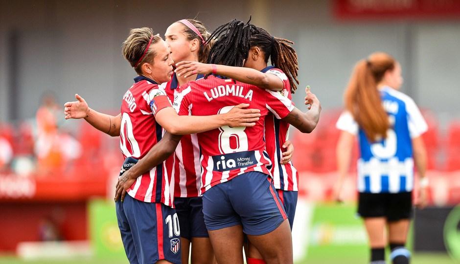 Temp. 20-21 | Atlético de Madrid Femenino - Espanyol | Celebración gol Emelyne