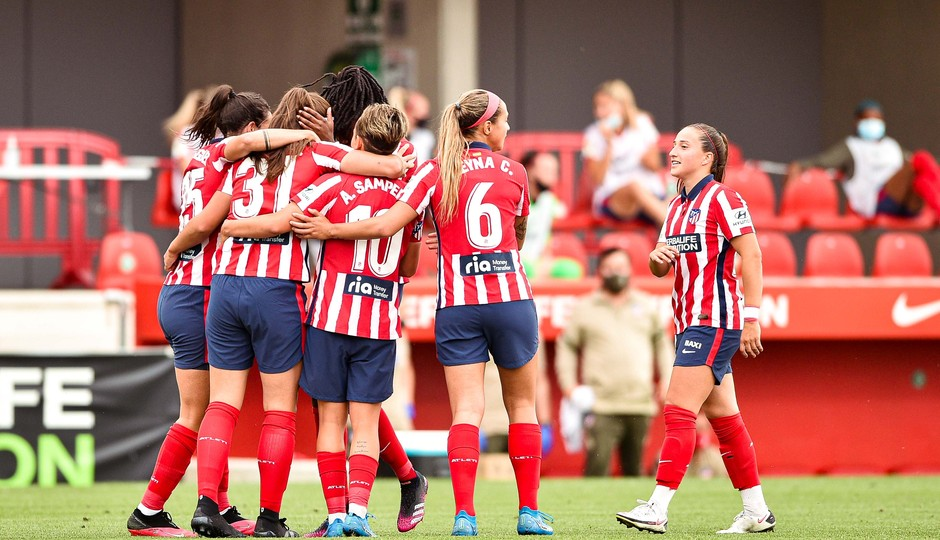 Temp. 20-21 | Atlético de Madrid Femenino - Espanyol | Carmen celebración gol