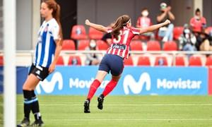 Temp. 20-21   Atlético de Madrid Femenino - Espanyol   Carmen celebración gol
