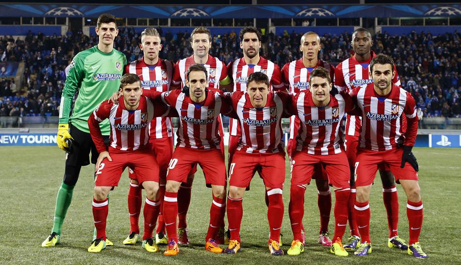 Temporada 13/14. Champions League. Zenit - Atlético de Madrid. Once inicial