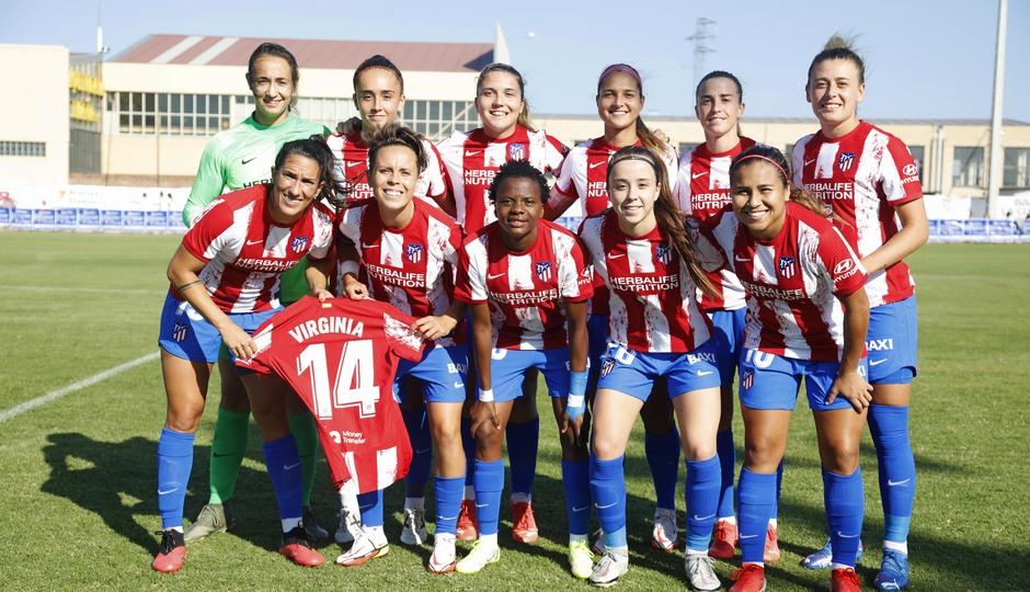 Temporada 2021/22   Triangular amistoso   Atleti Femenino-Logroño   Once