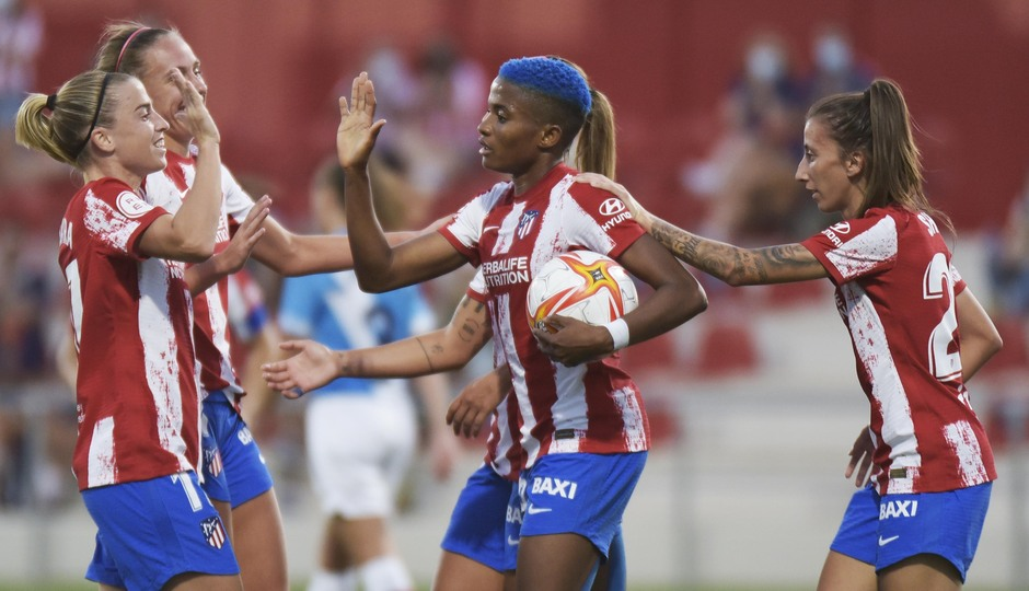 Temp. 21-22 | Atlético de Madrid Femenino - Rayo Vallecano | Celebración Ajibade