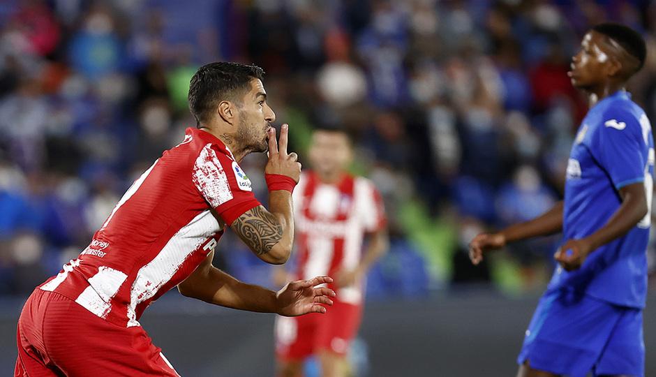 Temporada 2021/22 | Getafe - Atlético de Madrid | Suárez | Celebración