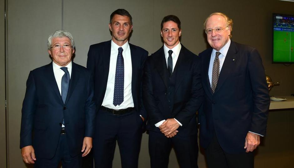 Temporada 2021/22 | Champions League | AC Milan - Atleti | Enrique Cerezo, Maldini y Fernando Torres