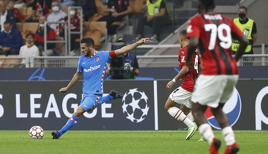 Temporada 2021/22 | Champions League | AC Milan - Atleti | Koke